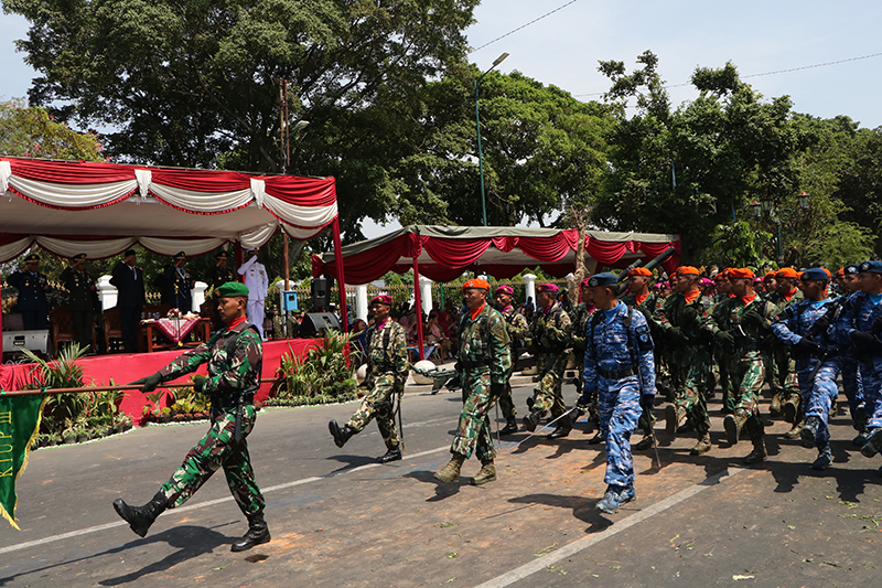 Danlanud Adisutjipto Hadiri Upacara Peringatan HUT ke 73 TNI di Yogkakarta.