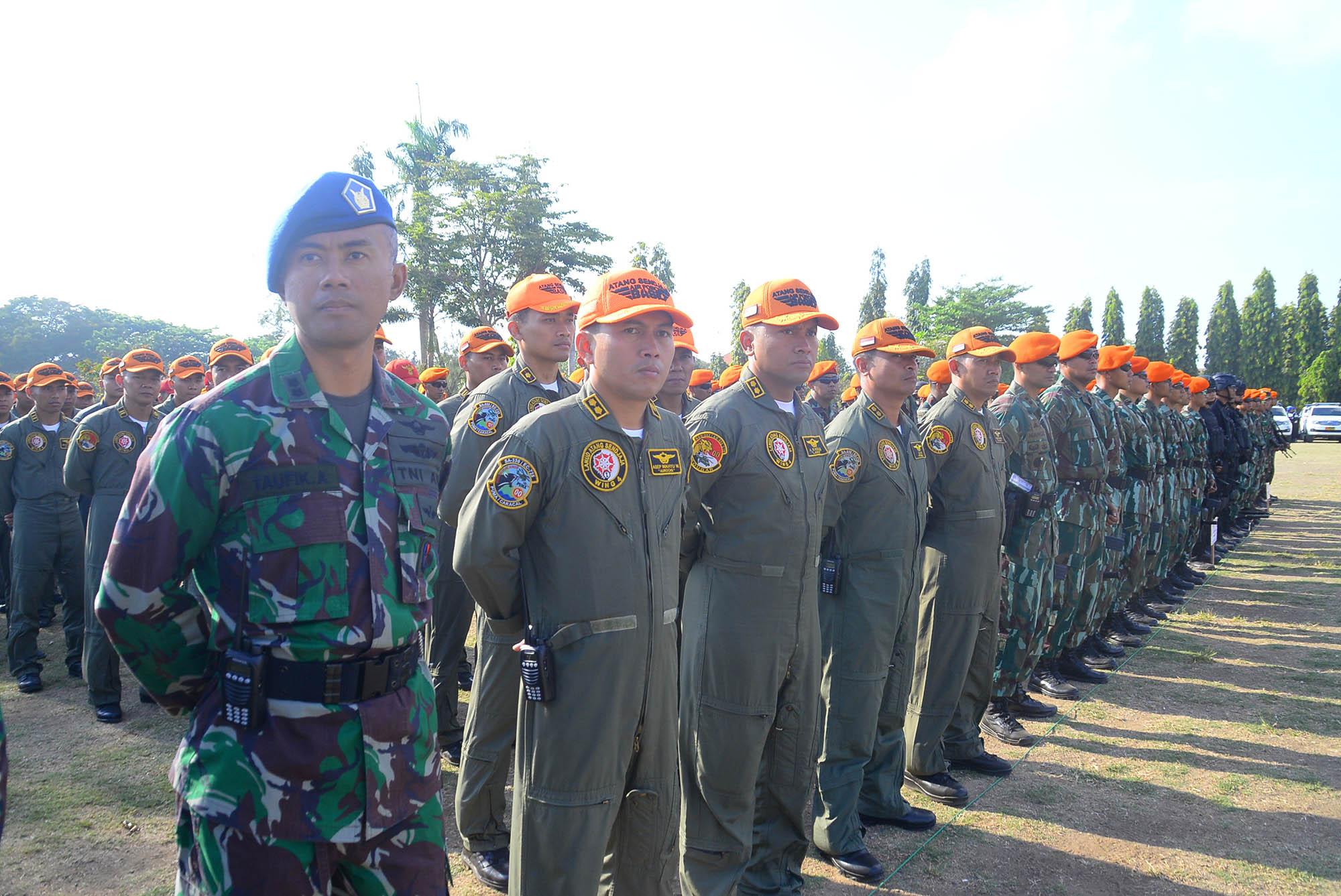 Personel TNI AU yang Tergabung Satgaud Kogabpam VVIP IMF-WB 2018 Ikuti Gelar Pasukan
