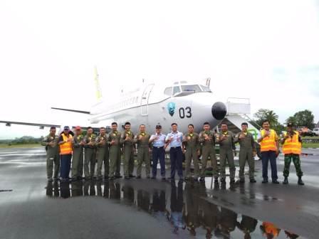 Operasi Praniti Antarikshe 2018, Pesawat Intai TNI AU Mendarat di Belitung
