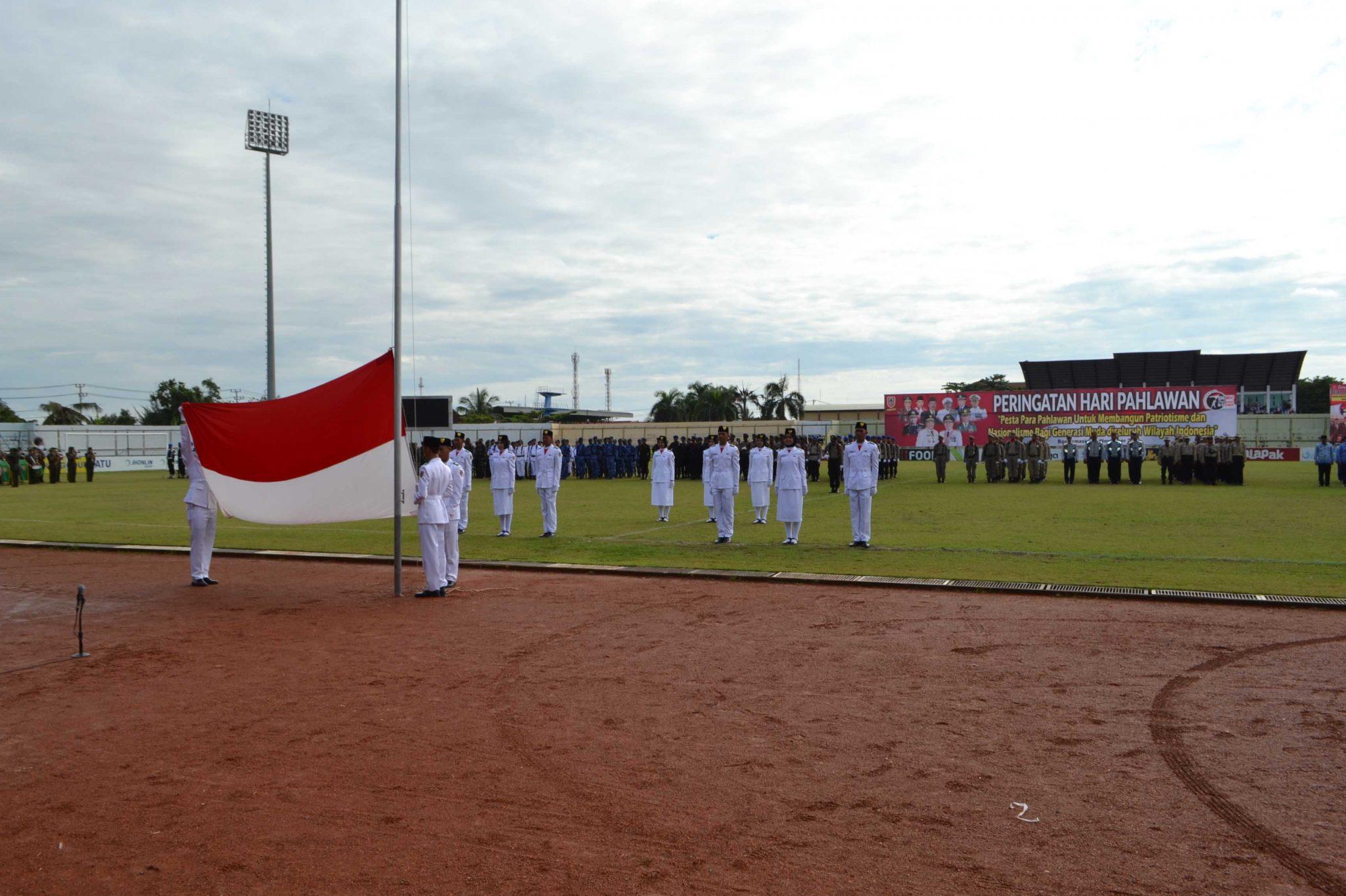 Lanud Sjamsudin Noor Mengikuti Rangkaian Upacara Peringatan Hari Pahlawan ke 73 di Banjarmasin