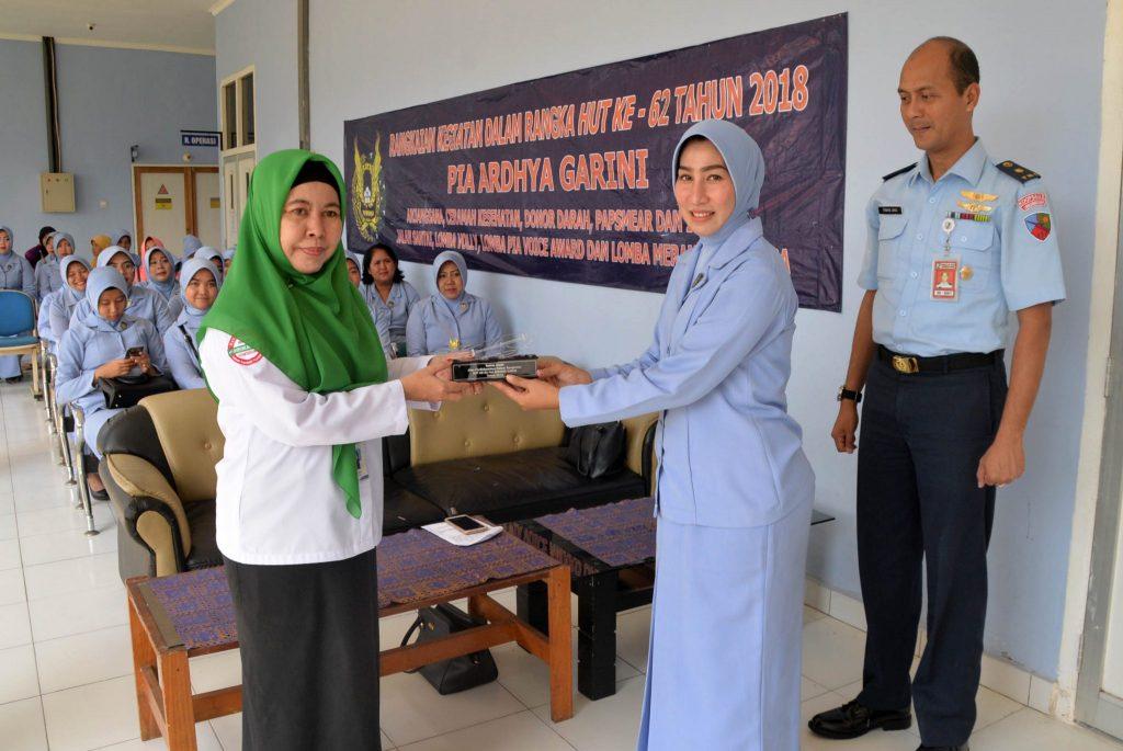 Ceramah Kesehatan & Pemeriksaan Papsmear Di Lanud Sjamsudin Noor Dalam Rangka Menyambut Peringatan HUT PIA AG ke-62 Tahun 2018