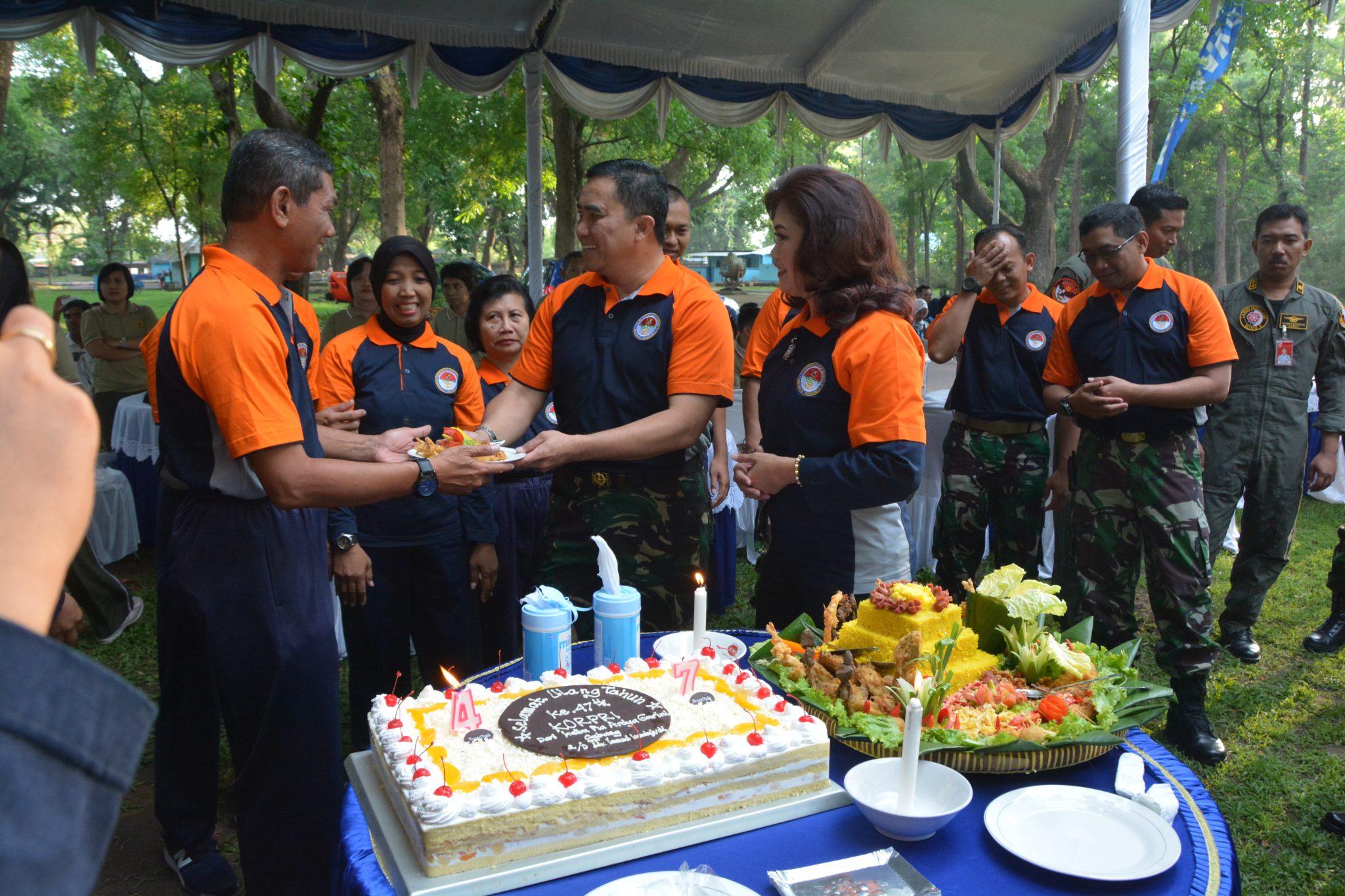 Tepat 47 Tahun Korpri, PNS Lanud Iswahjudi Gelar Syukuran dan Panggung Gembira