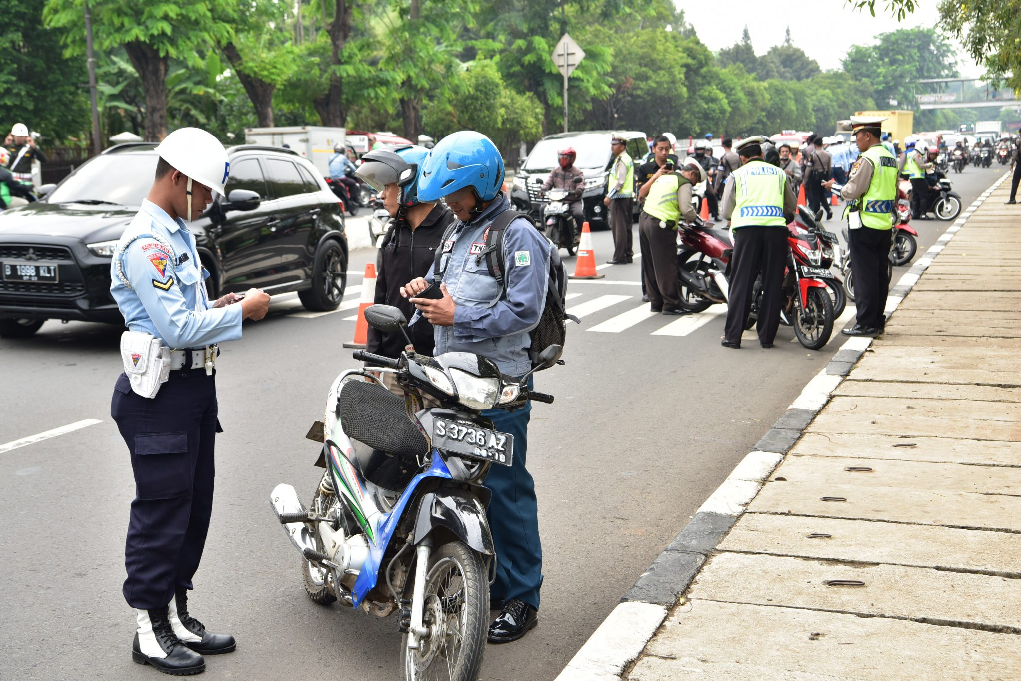 Satpomau Lanud Halim Perdanakusuma Gelar Ops Gaktib Gabungan
