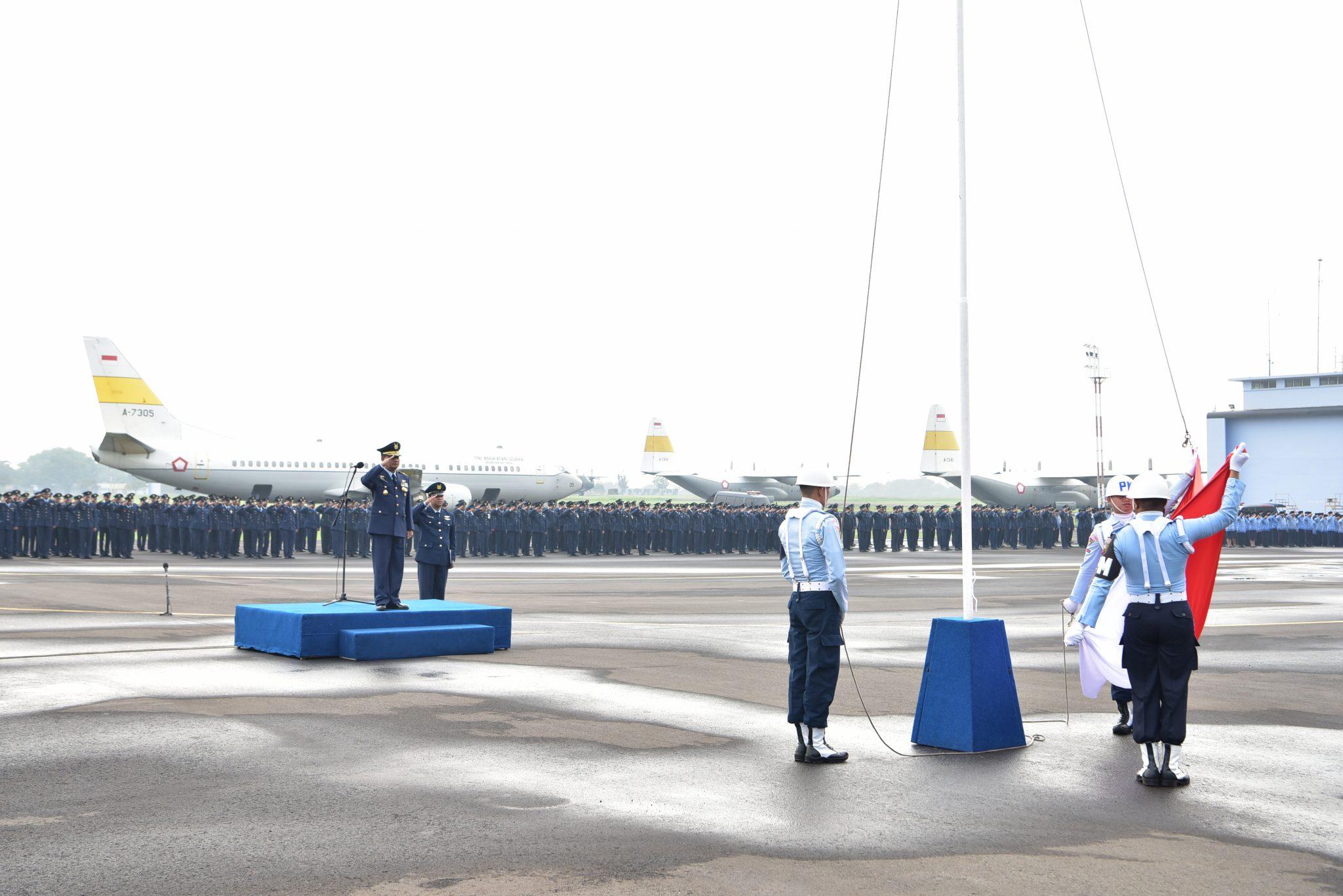Peringatan Ke-73 Hari Pahlawan, Lanud Halim Perdanakusuma Gelar Upacara Gabungan