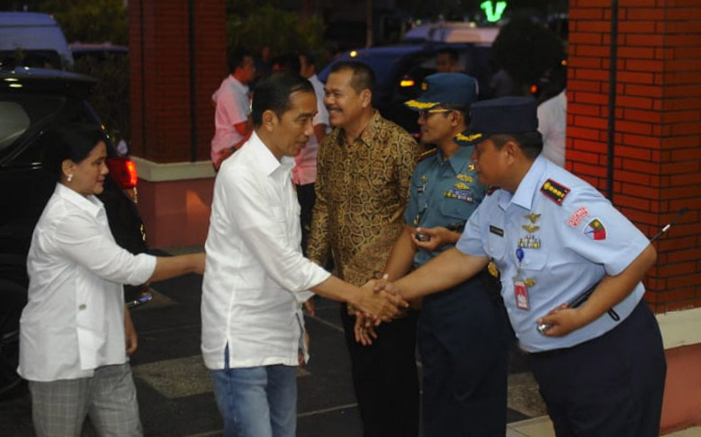 Danlanud SMH Sambut Kunjungan Presiden RI di Palembang