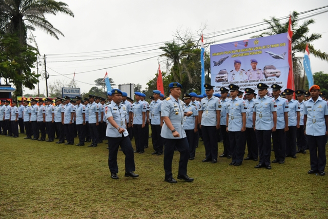 Danlanud RSN Pimpin Upacara HUT ke-72 POMAU di Pekanbaru