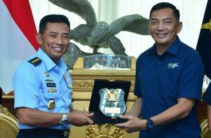Kasau Terima Kunjungan Inasgoc: Inasgoc Apresiasi Dukungan TNI AU