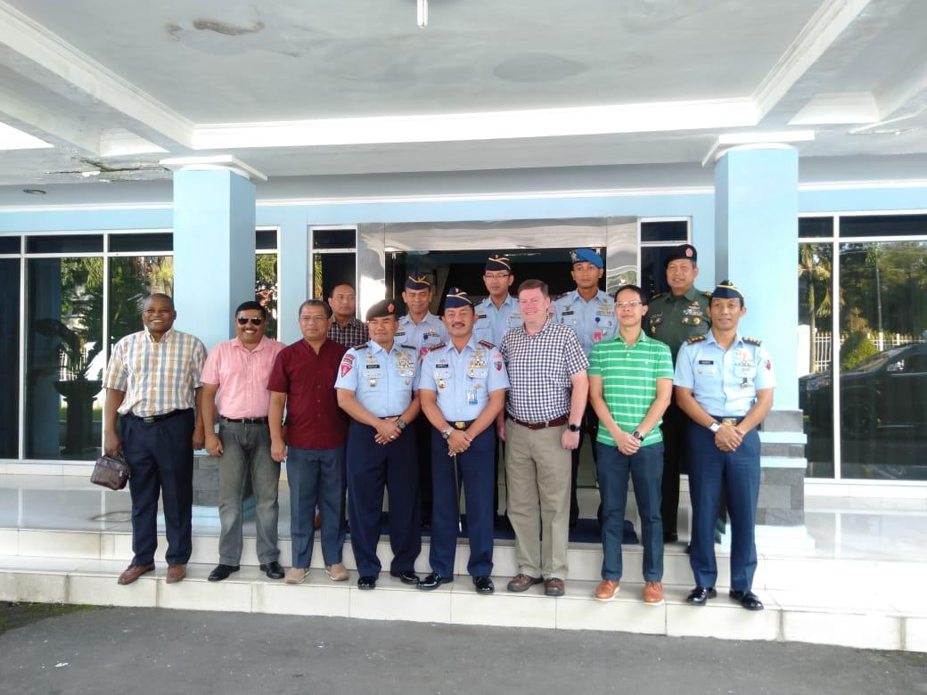 Danlanud Soewondo Menerima Kunjungan Pasis Negara Sahabat Sesko TNI TA. 2018