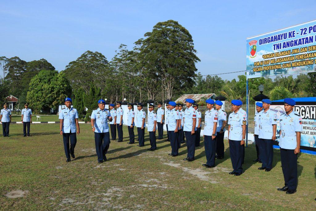 Satpom Lanud Iskandar Peringati HUT Pomau Ke-72