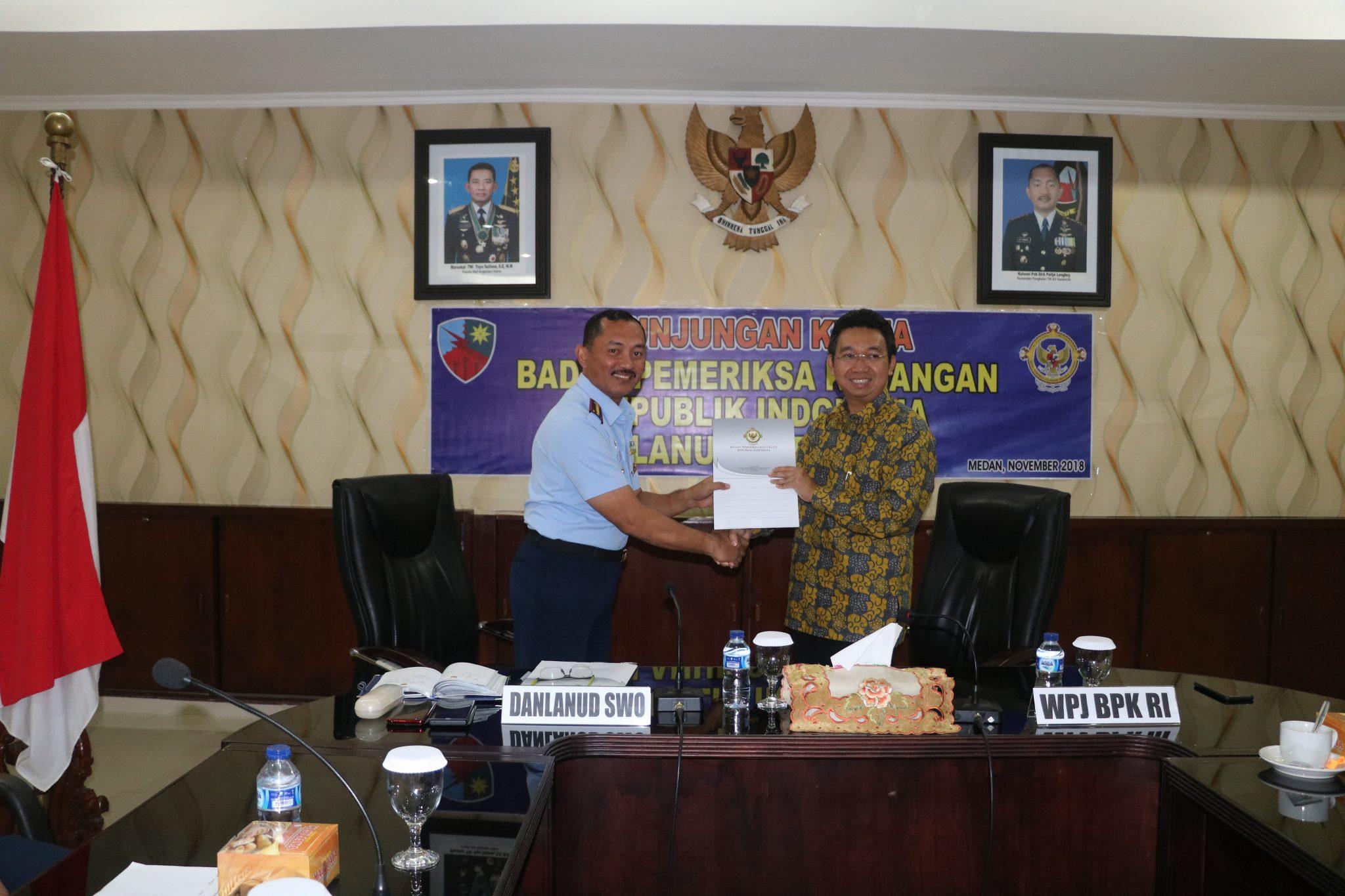 Tim BPK RI Exit Briefing di Lanud Soewondo