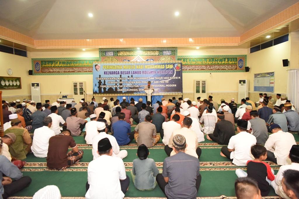 Peringatan Maulid NAbi Muhammad SAW di Lanud RSN