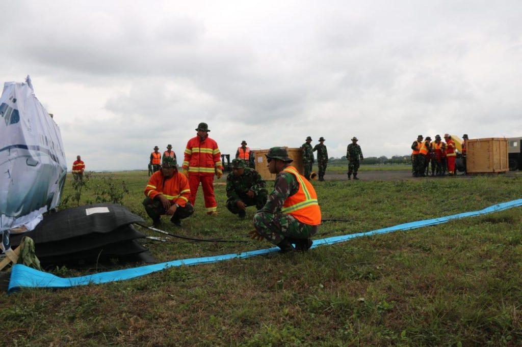 Lanud Abd Saleh Gelar Latihan Airbag Jack Combine dengan Latihan Crashteam Pertama Kali Dilaksanakan di Jajaran TNI AU