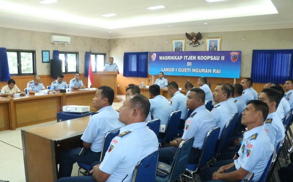 Wasrik Inspektorat Koopsau II di Lanud I Gusti Ngurah Rai