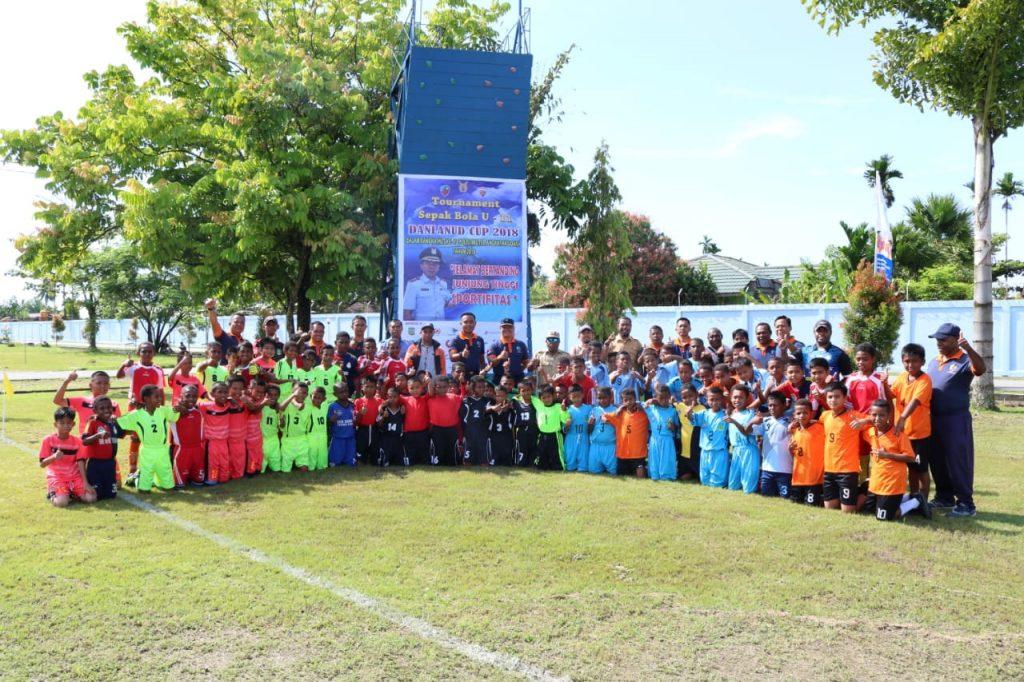 Sepak Bola U-11 Danlanud Cup 2018 Di Lanud Y.Kapiyau Timika.