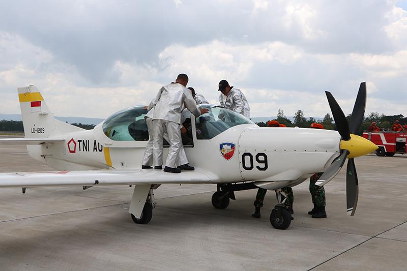 Tingkatkan Kemampuan Prajurit, Lanud Adisutjipto Selenggarakan Latihan Crash Team
