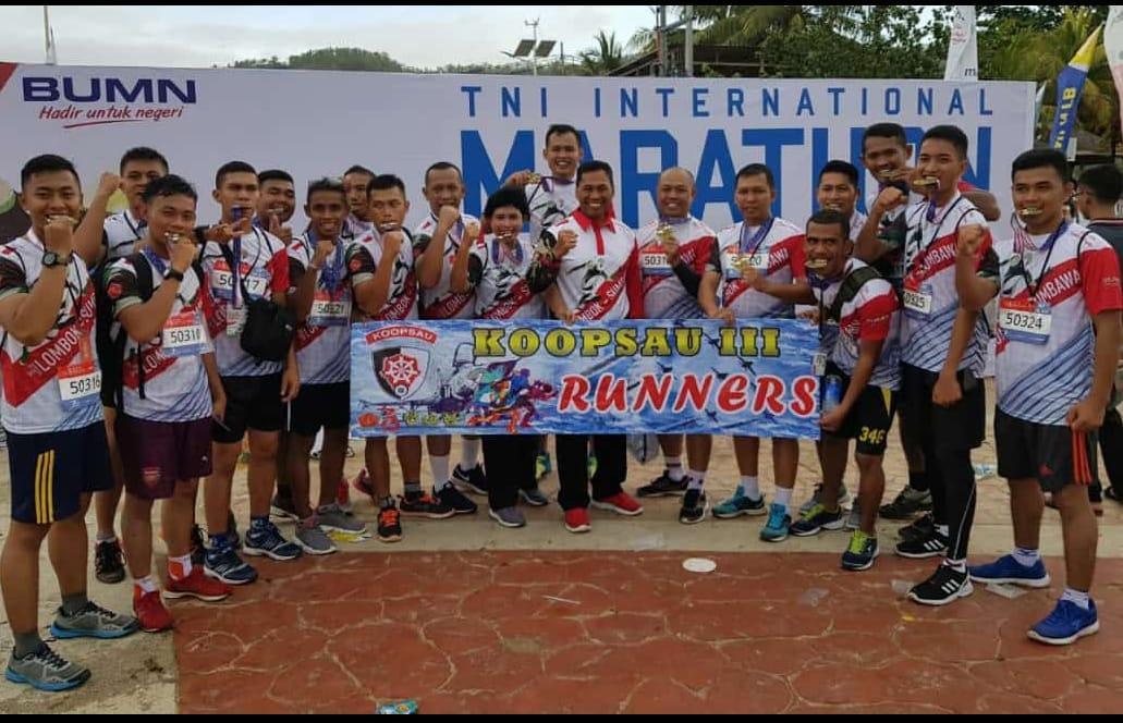 Koopsau III Runners Ambil Bagian dalam TNI International Marathon