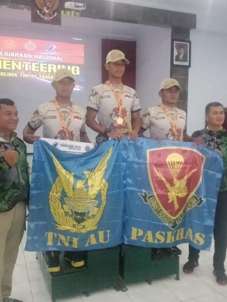 TNI AU Juara Middle Distance Kejurnas Orienteering Piala Panglima TNI