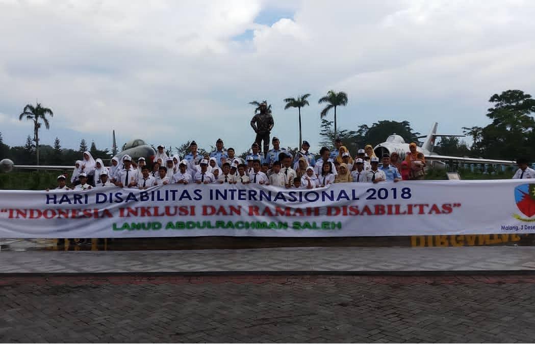 Moment Hari Disabilitas Internasional, Lanud Abd Saleh Undang 250 Siswa SLB