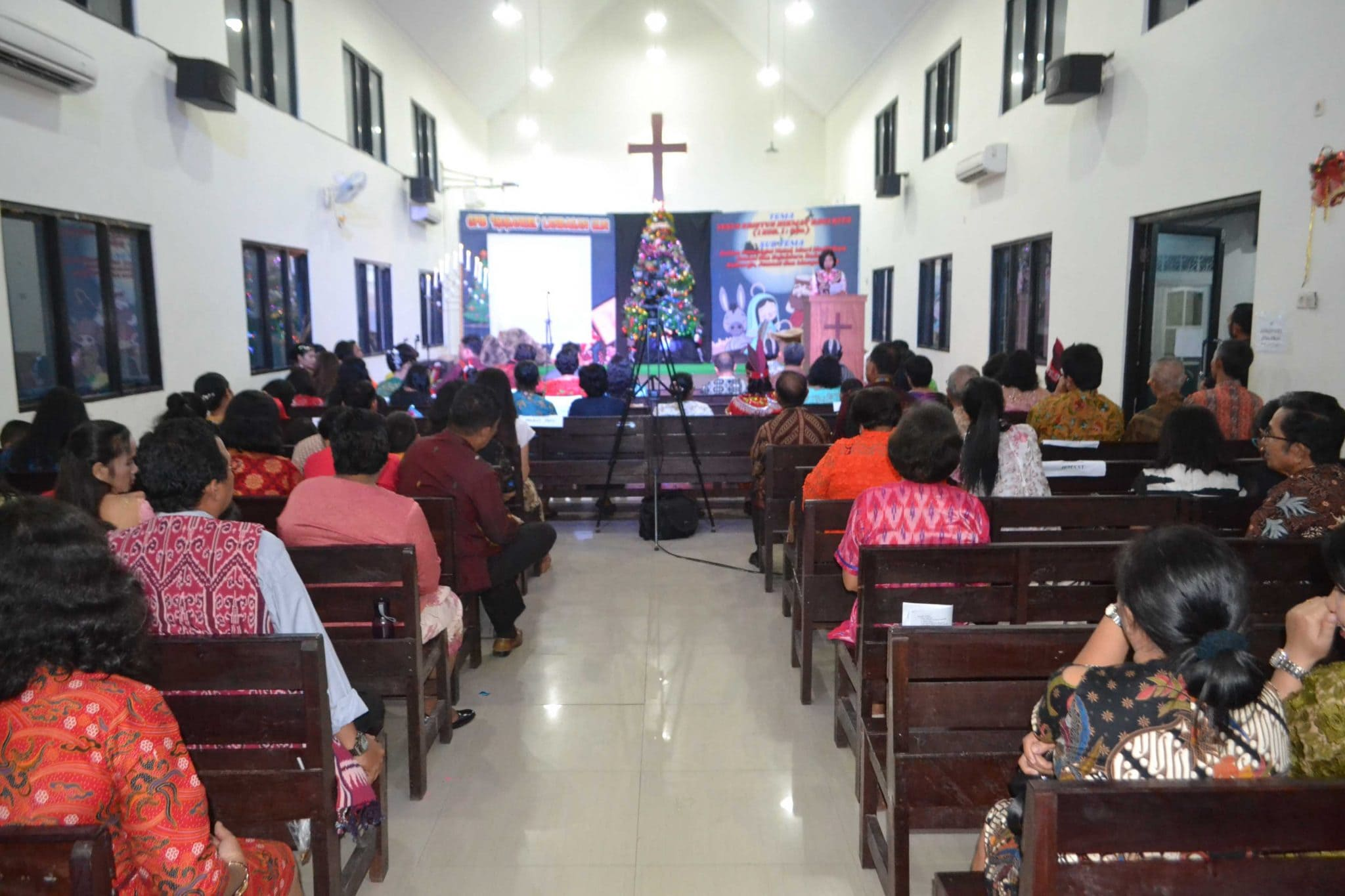 Perayaan Natal Tahun 2018 di Gereja Oikumene GPIB Immanuel Lanud Sjamsudin Noor