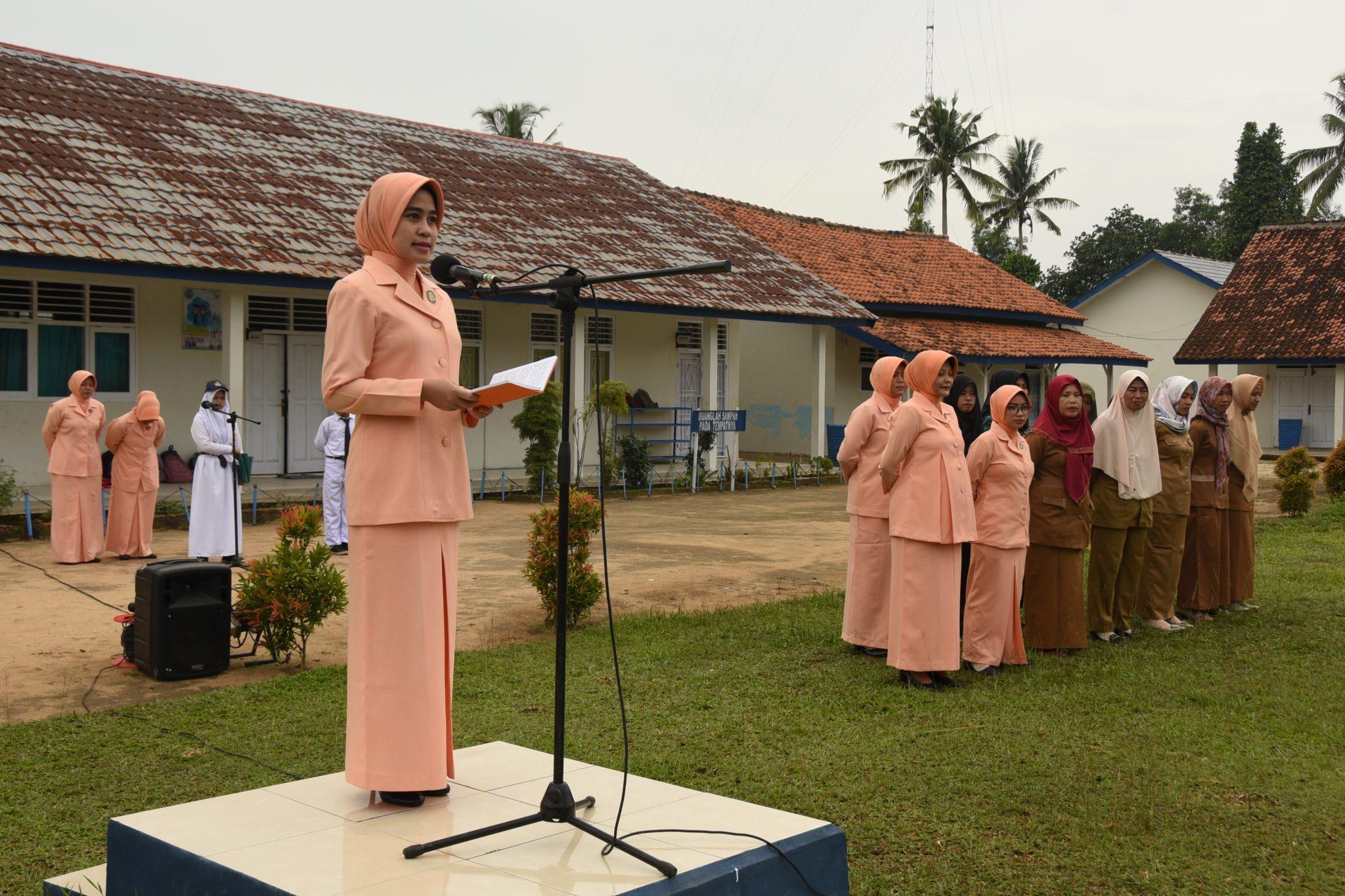 Yasarini Cabang Lanud Pangeran M. Bun Yamin Melaksanakan Serah Terima Jabatan Kepala TK dan SMP Angkasa.