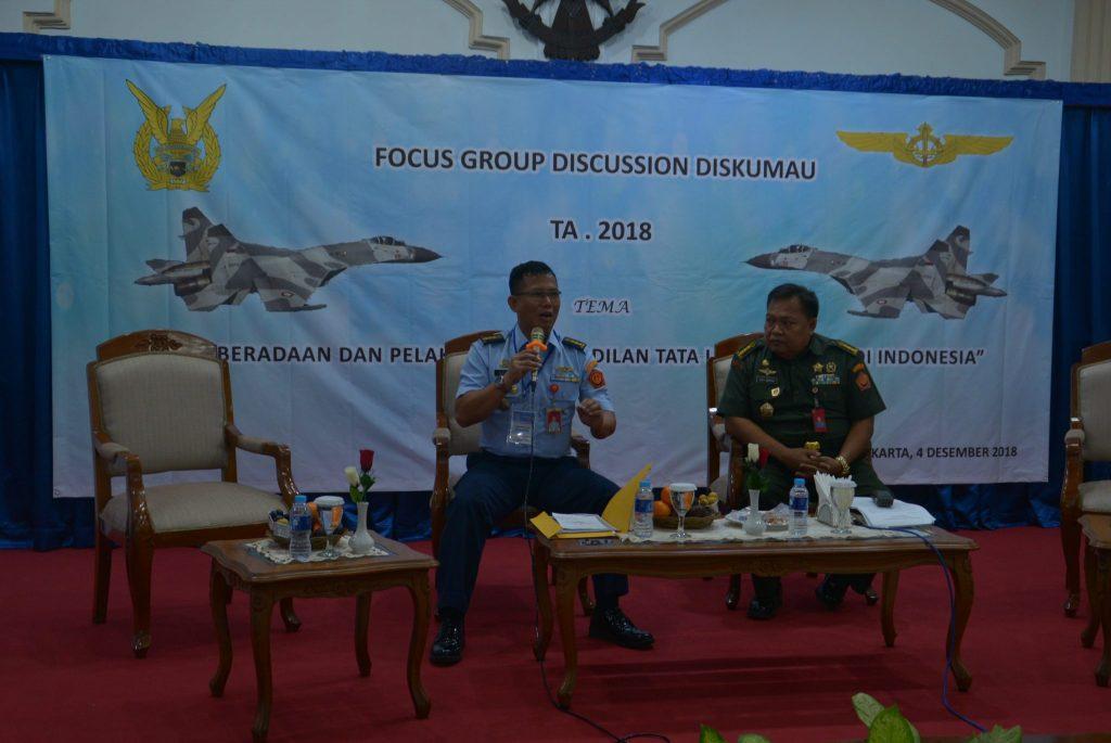 Kakum Kohanudnas Moderator FGD Peradilan Tata Usaha Militer Diskumau