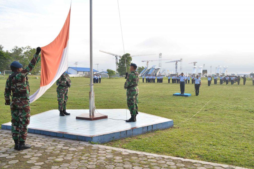 Upacara Bendera Mingguan Bulan Desember 2018 di Lanud Sjamsudin Noor