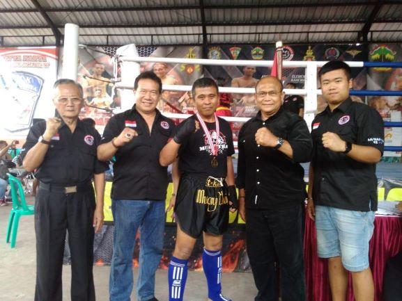Serka Wawan Anggota Lanud Smo Rebut Medali Emas Kejurnas Tarung Bebas di Purbalingga