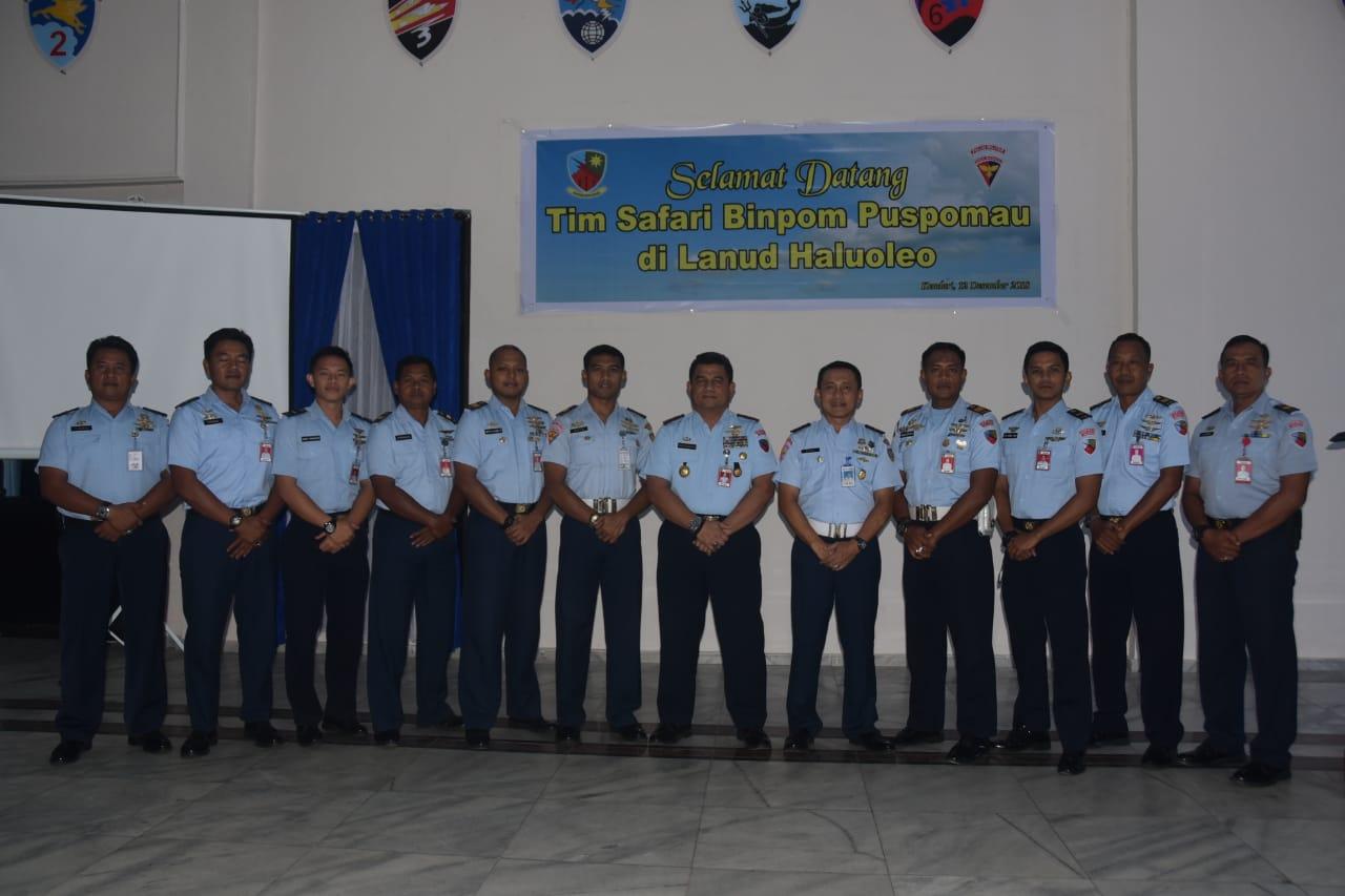 Safari Pembinaan Polisi Militer Angkatan Udara di Lanud Haluoleo