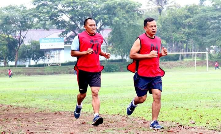Personel Lanud J.B. Soedirman Laksanakan Test Kesemaptaan Jasmani Semester II
