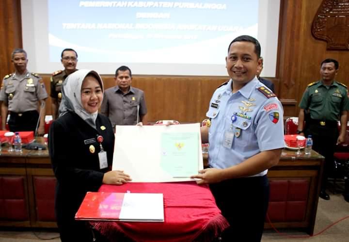Pemkab Purbalingga Hibahkan Tanah ke TNI AU