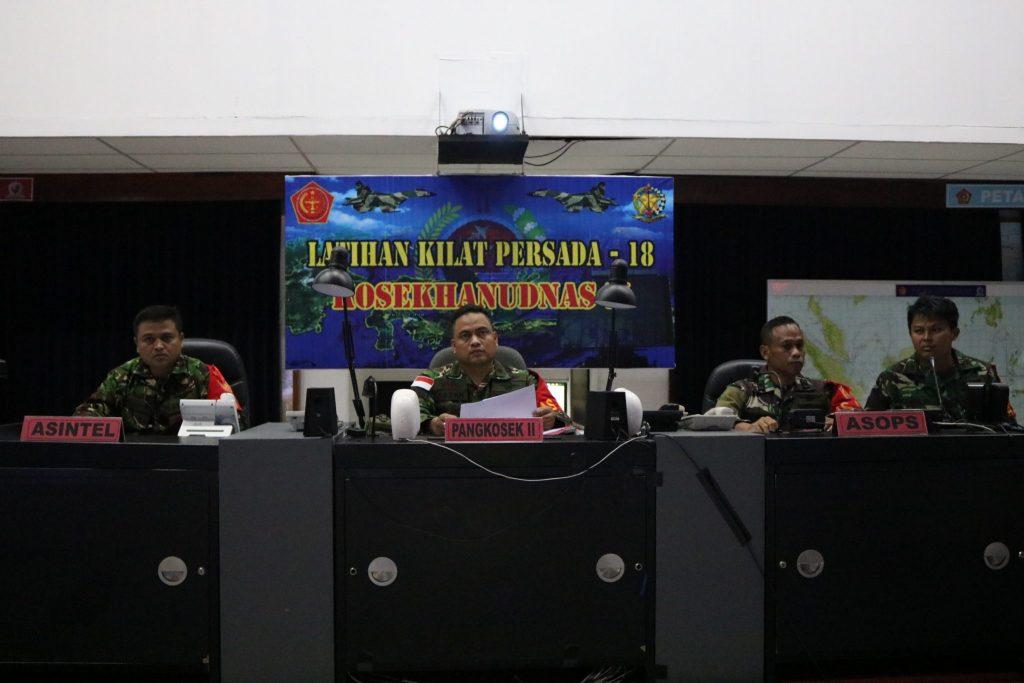 Kosekhanudnas II Laksanakan Latihan Hanudnas Kilat Persada T.A 2018