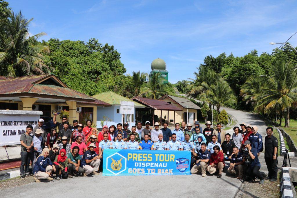Danlanud Mna Dampingi Rombongan Press Tour ke Satrad 242
