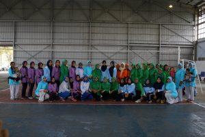 Pertemuan Rutin Dharma Pertiwi Gelar Olahraga Bersama di Hanggar Lanud Maimun Saleh