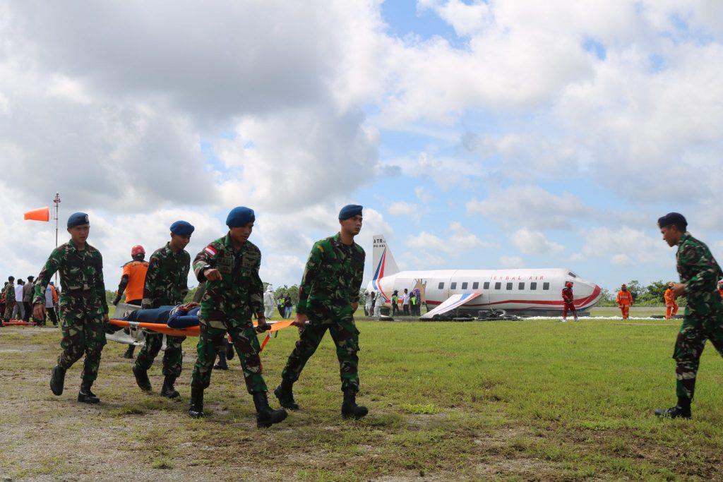 """Simulasi Emergency Drill """"Crash Landing"""" EMBAL AIR PK-KEI"""