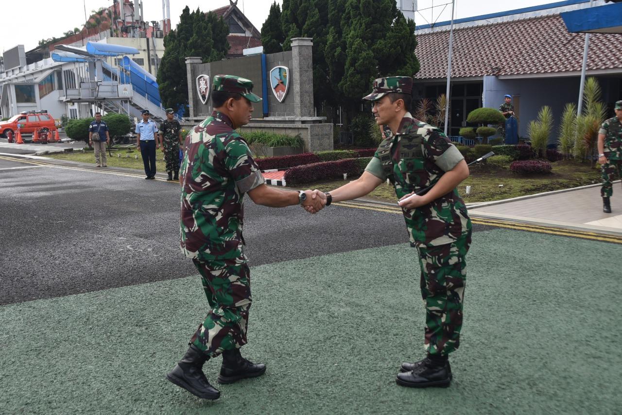 Danlanud Husein S. Sambut Kunjungan Kerja Kasau di Bandung