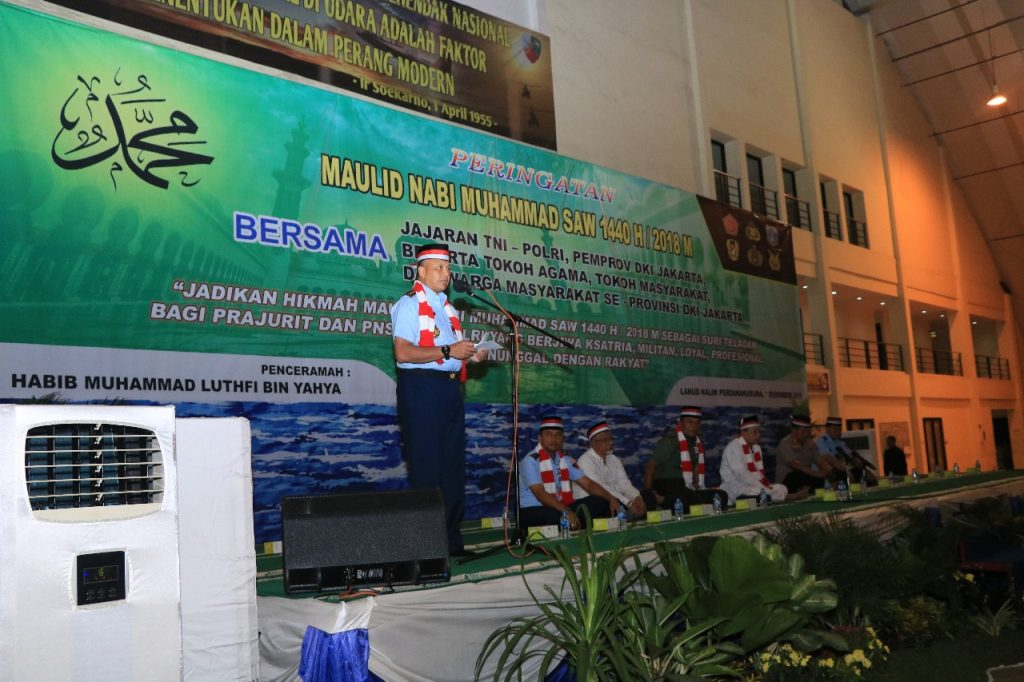 TNI – Polri dan Warga DKI Jakarta Peringati Maulid Nabi Muhammad SAW Bersama di Lanud Halim Perdanakusuma