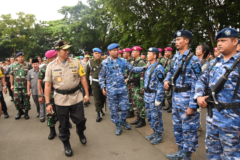 Apel Gelar Pasukan Operasi Lilin Krakatau 2018 di Provinsi Lampung