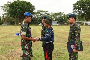 Lanud Pangeran M. Yamin Melaksanakan Upacara Penutupan Kegiatan Pelatihan Kepemimpinan dan Survival Pengajar Cerdas Angkatan ke-4 Tulang Bawang Barat Tahun 2018.