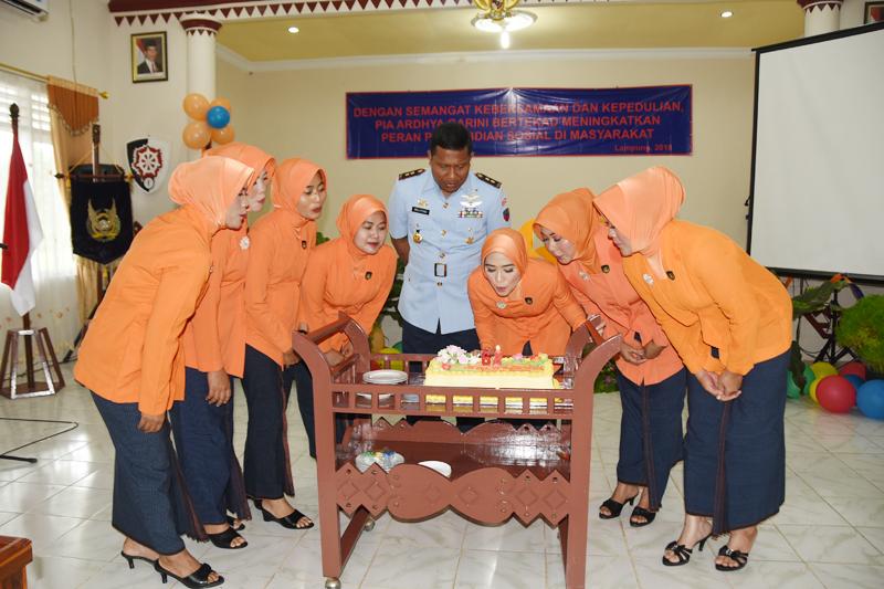 Peringatan HUT Ke-62 PIA Ardhya Garini di Lanud Pangeran M. Bun Yamin