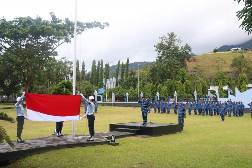 Upacara Bendera 17-an Bulan Januari di Lanud Silas Papare