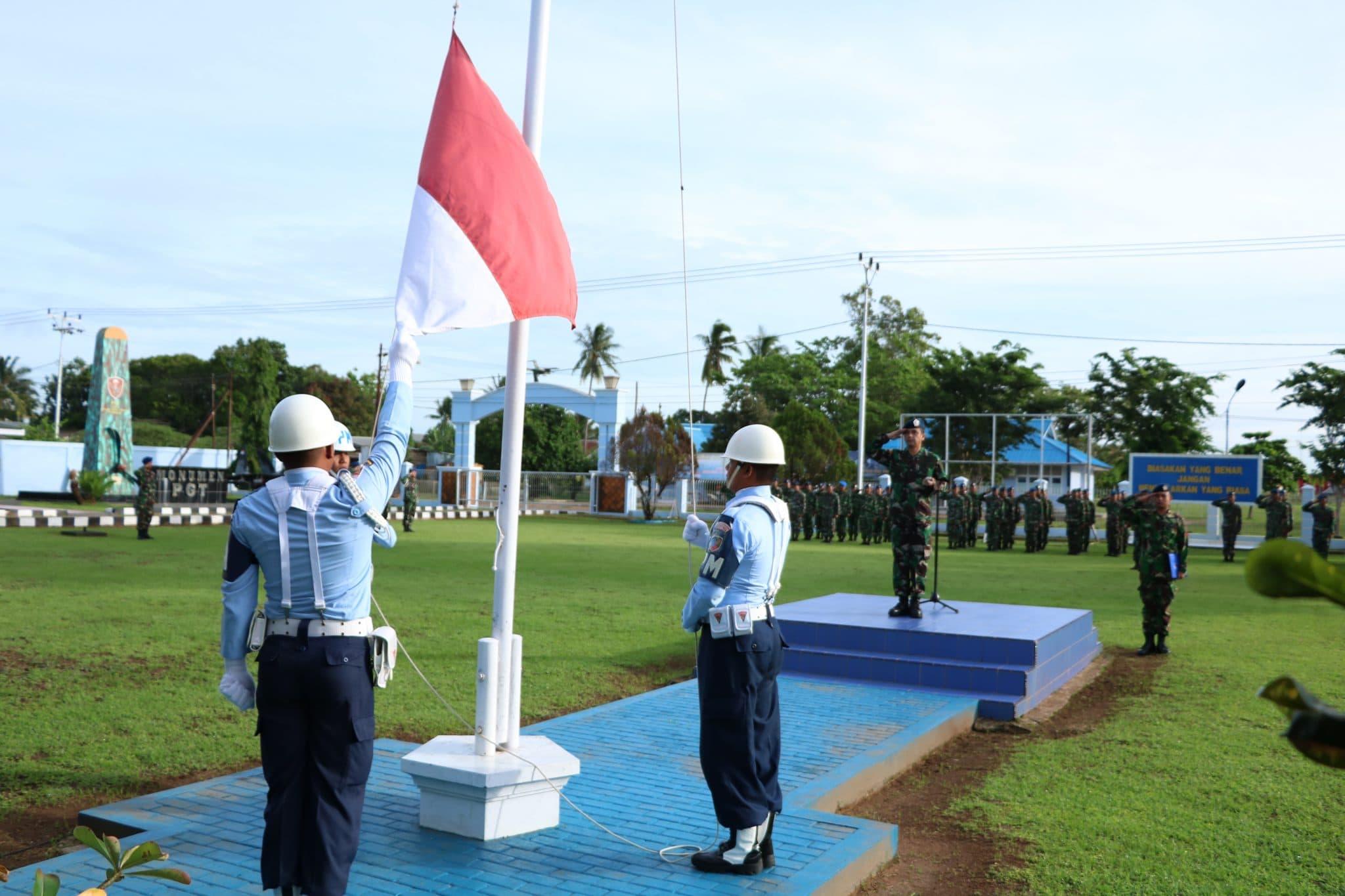 Tingkatkan Jiwa Patriotisme, Lanud J.A.Dimara Merauke Rutin Gelar Upacara Bendera Mingguan