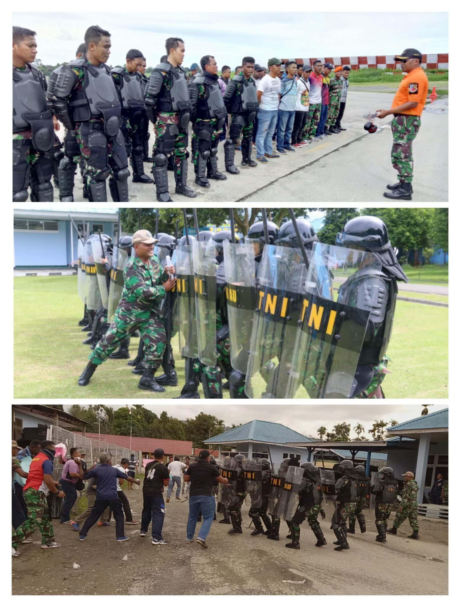 Lanud Silas Papare Jayapura Gelar Latpam Pemilu Legislatif dan Presiden 2019