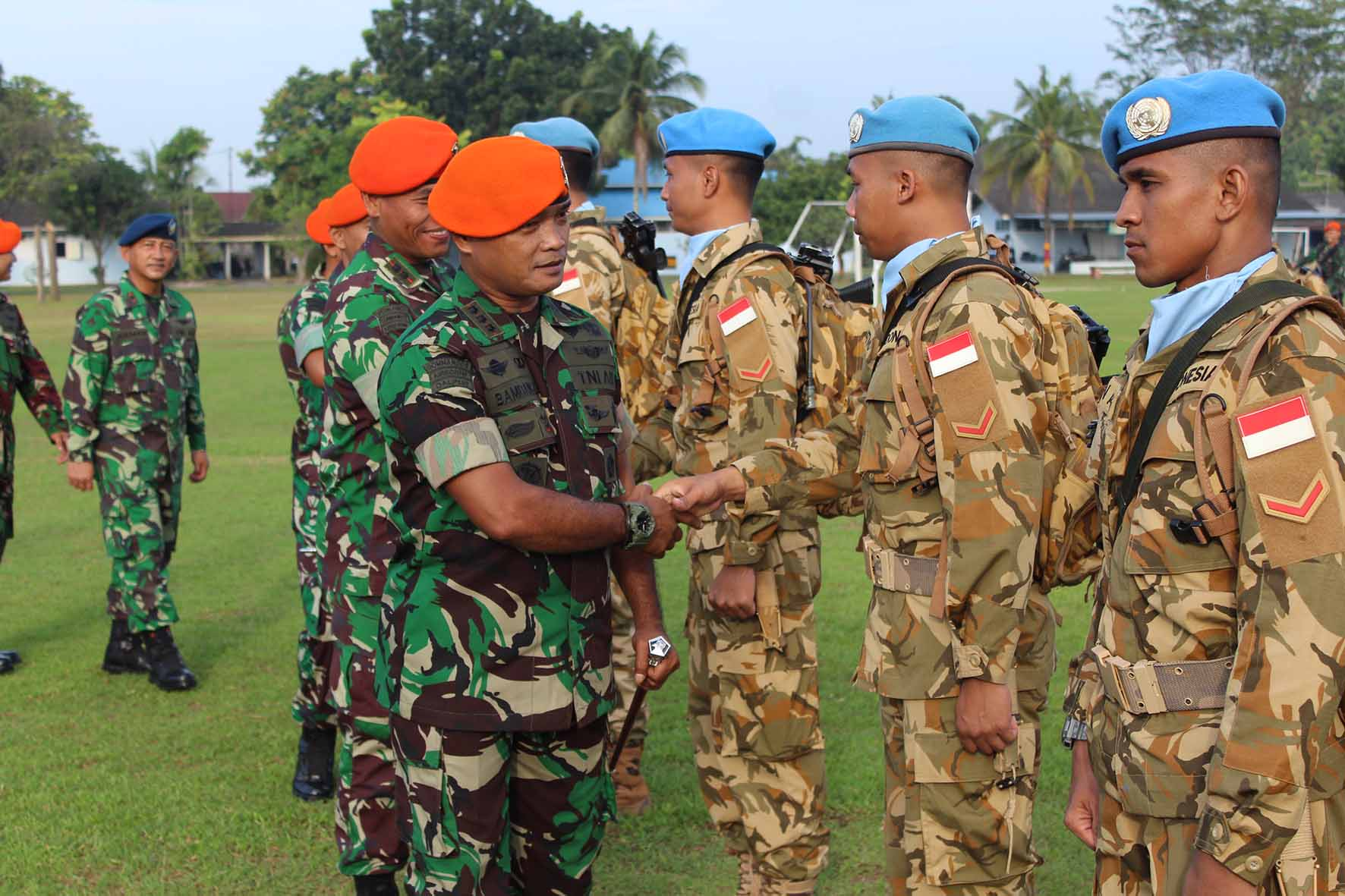 Danwing III Paskhas Pimpin Upacara Purna Tugas Yonmek TNI Konga XXIII-L Unifil