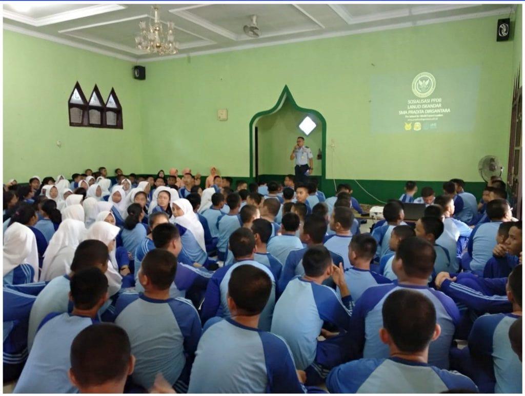 201 Siswa SMP Negeri 01 Arut Selatan Ikuti Sosialisasi SMA Pradipta Dirgantara
