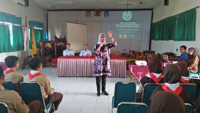 Lanud Smo Berikan Sosialisasi SMA Pradita Dirgantara di Tiga SMP Negeri