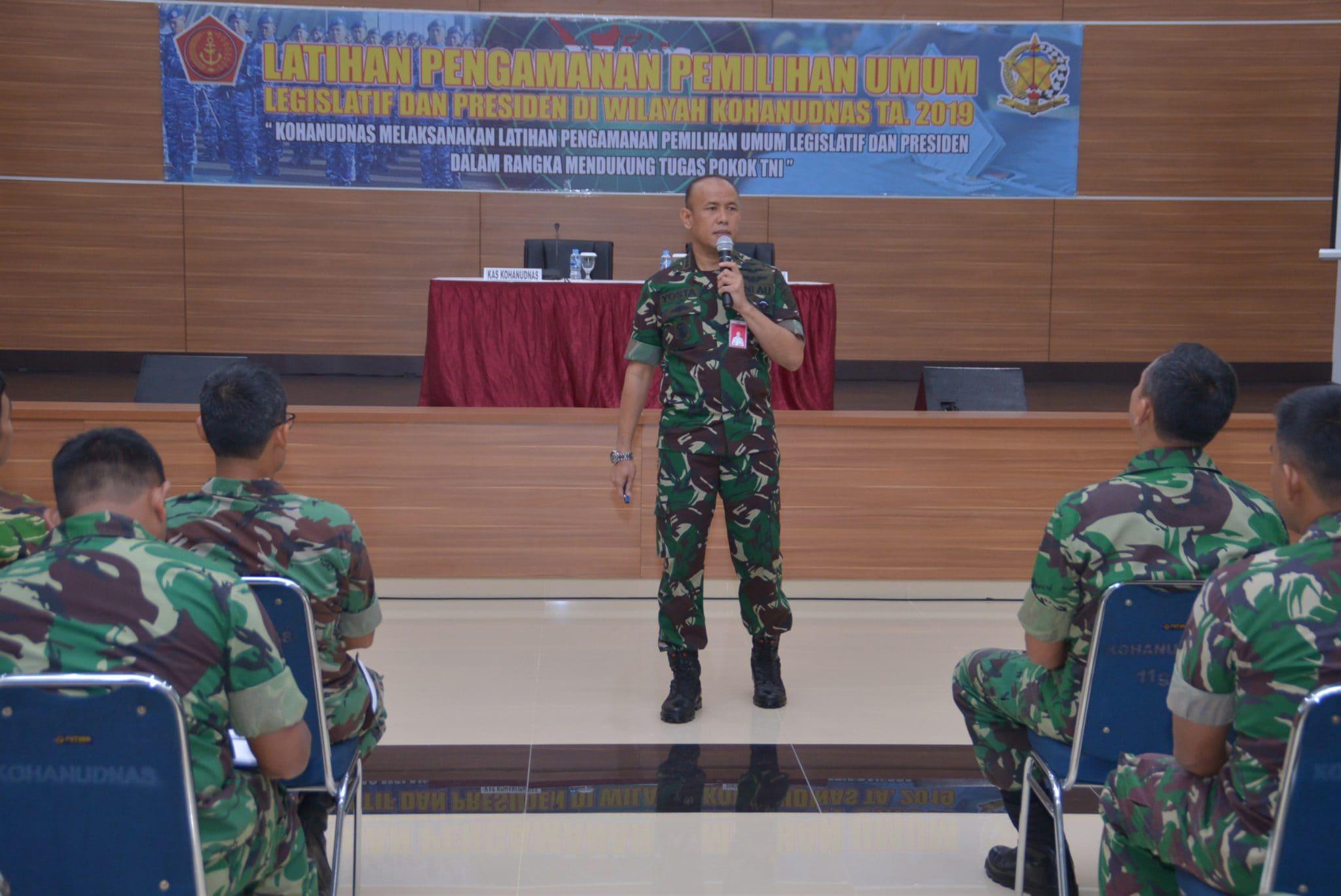 Sosialisasi Netralitas TNI pada Pengamanan Pemilu di Makohanudnas