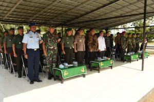 Upacara dalam Rangka Latihan Pengamanan Pemilu Legislatif dan Presiden Bersama Unsur Forkopimda Provinsi Lampung