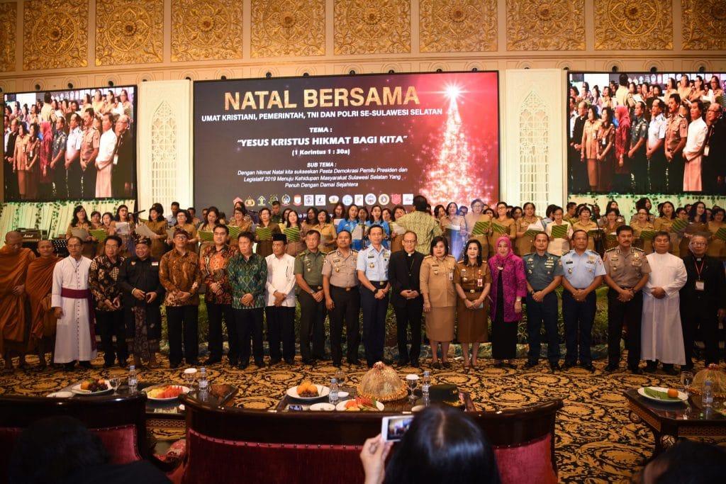 Pelaksanaan Natal Bersama Umat Kristiani Pemerintah, TNI dan Polri se-Sulawesi Selatan