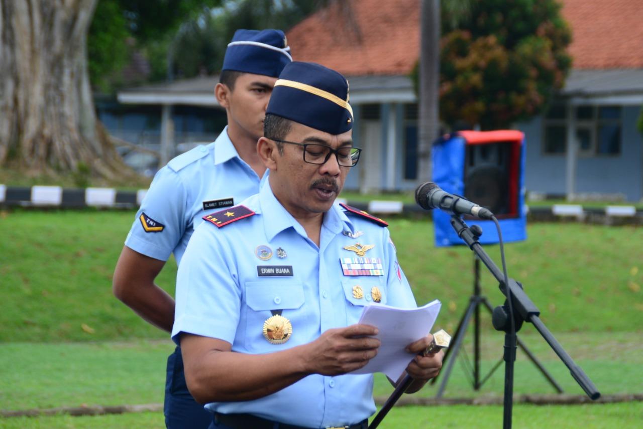 Awali 2019, Lanud Atang Sendjaja Laksanakan Apel Khusus