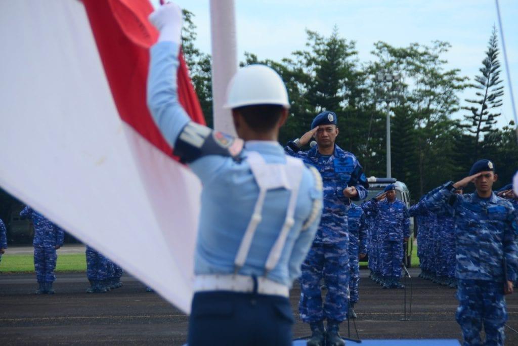 Upacara 17 an di Lanud Ats,  Bersama Komponen Bangsa TNI Wujudkan Rasa Aman dan Tentram